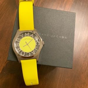 Marc Jacobs Womens Neon Yellow & Silver Watch